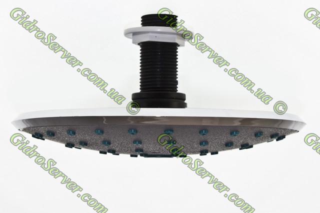 Лейка тропического душа для душевой кабины, гидромассажного бокса L ― 160 G вид с боку, диаметр поверхности 160 мм.