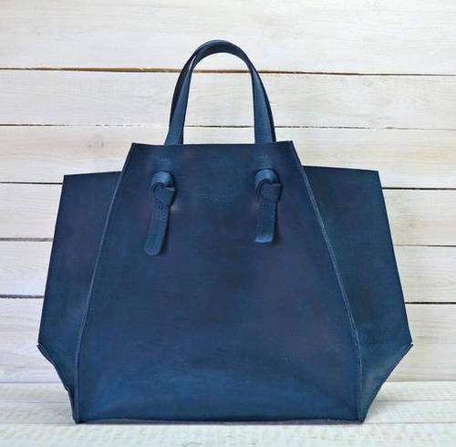Прекрасная женская сумка из натуральной кожи GBAGS B.0007-CH синий