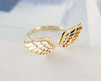 """Кольцо """"Крылья ангела"""" (цвет: золотой)"""