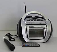 БУМБОКС. Колонка, караоке, часы, MP3 - GOLON RX 656Q Black