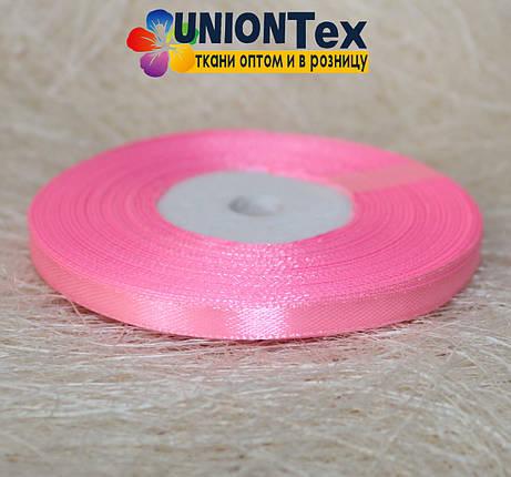 Лента атласная 0,6 см розовая, фото 2