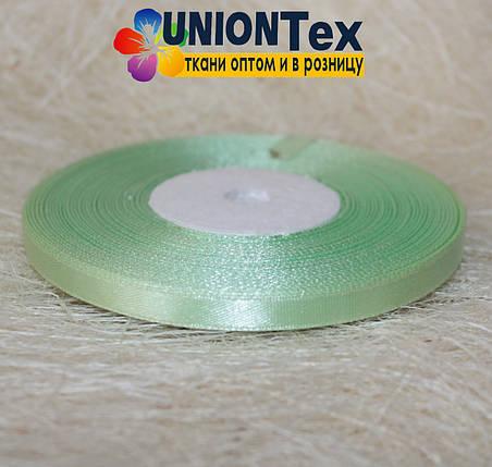 Лента атласная 0,6 см светло-зеленая, фото 2