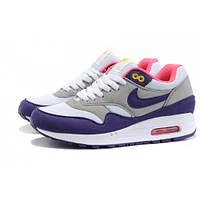 Женские кроссовки Nike Air Max 87 фиолетовые с серым
