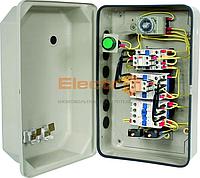 Пускатель 32А + реле + таймер + контакт приставка в металлической оболочке Ue=220В/АС3 IP65 Electro