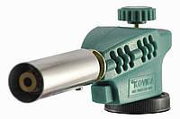 Газовая горелка c пьезоподжигом KOVICA KS-1005, зеленая