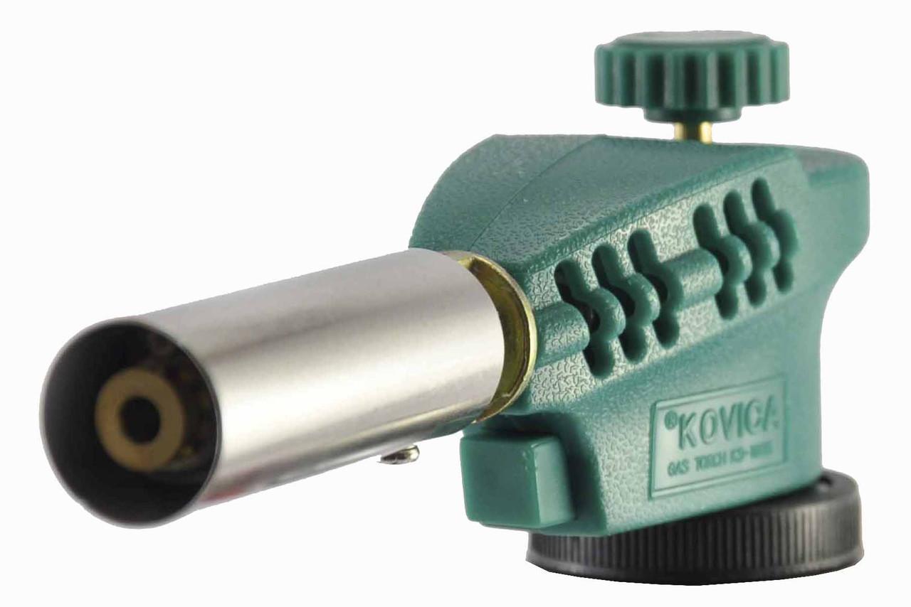 Газовая горелка c пьезоподжигом KOVICA KS-1005, зеленая, фото 1