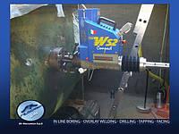 Ремонт стрелы экскаватора, погрузчика, манипулятора, ремонт проушин ковша