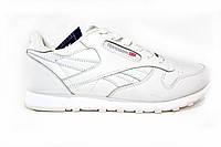 Мужские  кроссовки Reebok  classic, кожаные, белые, фото 1