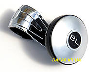 Ручка на руль BL серая Black Label лентяйка на подшипнике, фото 1