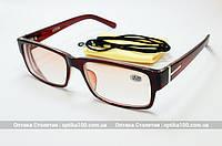 Очки для зрения с диоптриями +/- РМЦ 62-64. OPTICS 2180-26 с тонированными линзами