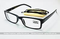 Очки для зрения с диоптриями (+/-). Черная оправа