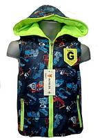 Жилетка детская для мальчика с машинками G229ТС