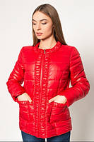 Куртка стильная короткая женская демисезонная драпированная АЛ29К