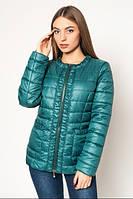 Куртка модная короткая женская демисезонная драпированная АЛ29Бт