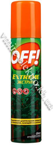 Аерозоль від комарів, кліщів, мокрєцов, ґедзів, комарів, мошок, бліх Extreme OFF 100 мл