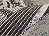 """Безворсовый ковер-рогожка """"Геометрическая абстракция"""" - цвет - коричневый, фото 3"""