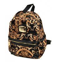 Рюкзак текстиль  1803 black-gold