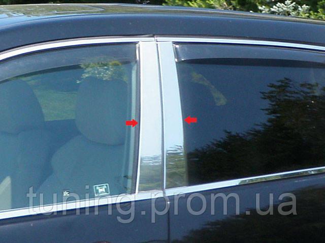 Хром накладки на дверные стойки  для Acura MDX 2007-2013 4 эл.