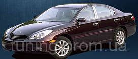 Хром накладки дверных стоек для Lexus ES300 2002-2006 6 эл.