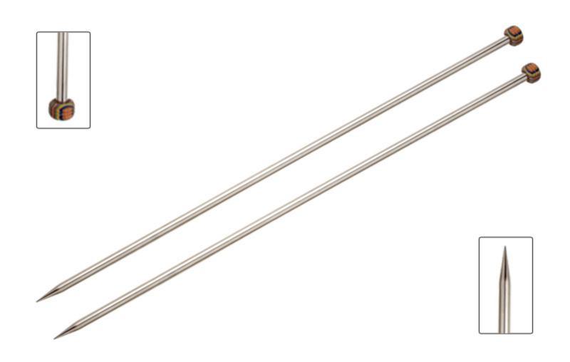 Спицы прямые 9,00 мм - 25 см Nova Metal KnitPro