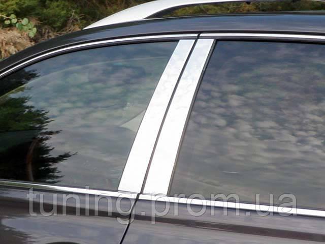 Хром накладки на дверные стойки  для Lexus RX350 2010-2012 4 эл.