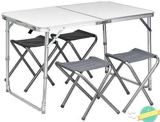 Стол  розкладной + 4 стула 120×60×70