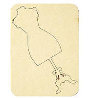Чипборд Манекен,10 см