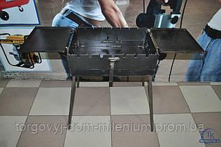 Складной мангал для шашлыков до 7 шампуров с столиком №7