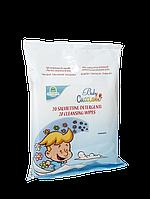 Очищающие салфетки детские с успокаивающими экстрактами ромашки, алоэ вера и протеинами овса Cucciolo Natura House 20 шт/уп 104600036