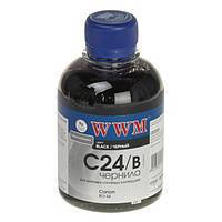Чернила WWM для принтеров  Canon   C24/B (Black/Чёрный)