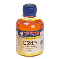 Чернила WWM для принтеров  Canon   C24/Y (Yellow/жёлтый)