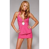 Красивое мини платье розового цвета