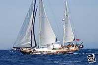 Постер глянцевый - Парусная яхта, 90x60см