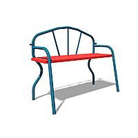 Скамейка (металлическая спинка)
