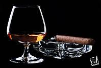 Постер глянцевый - Бокал виски и сигара, 90x60см
