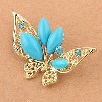 Брошь - Золотая бабочка