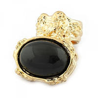 Кольцо с черным камнем