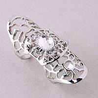 Двойное кольцо с камнем