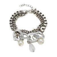 Стильный серебристый браслет