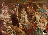 Постер глянцевый - Картина Бобовый король, 82x60см