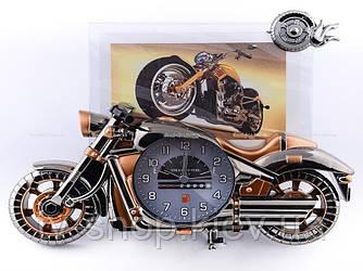 Годинник з фоторамкою Байк (2 кольори)