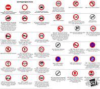Постер глянцевый - Запрещающие знаки, 69x60см