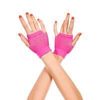 Розовые короткие перчатки