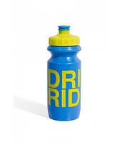 Фляга 600ml Green Cycle Drink & Ride с Big Flow valve, LDPI blue nipple/ yellow matt cap/ blue matt bottle