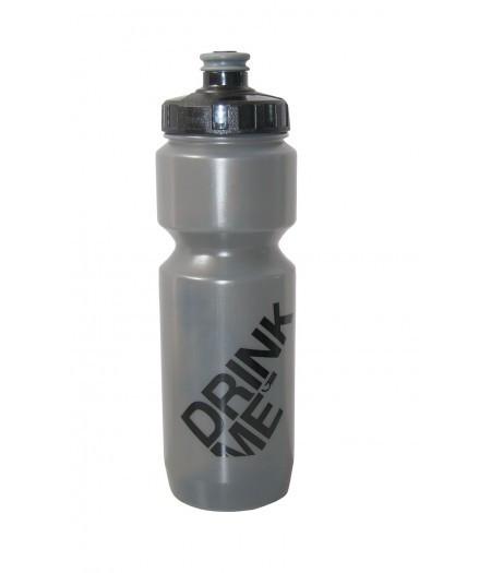 Фляга 800ml Green Cycle Drink Me с Big Flow valve, LDPI gray nipple/black matt cap/gray matt bottle