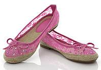 Женские балетки, лодочки туфли , туфли, на плоской подошве от производителя  летние розового цвета от 36 размера
