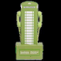 Наушники оригинальные универсальные, вакуумные, зеленые, фото 1