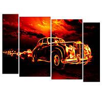 """Изготовление модульных картин. """"Огненное авто"""""""