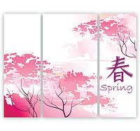 "Модульнуая картина ""Весна в Японии"""