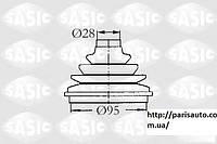 Пыльник полуоси комплект пыльника приводной вал Citroen Jumpy  Fiat Scudo  Peugeot Expert 806 SASIC 2933003